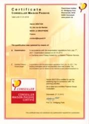 Certification Maison Passive