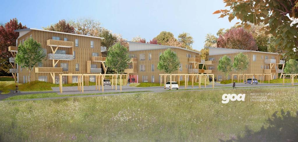 Conception et réalisation de 36 logements locatifs BEPOS Résidence Hélios